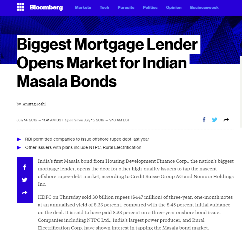 Bloomberg Masala bond